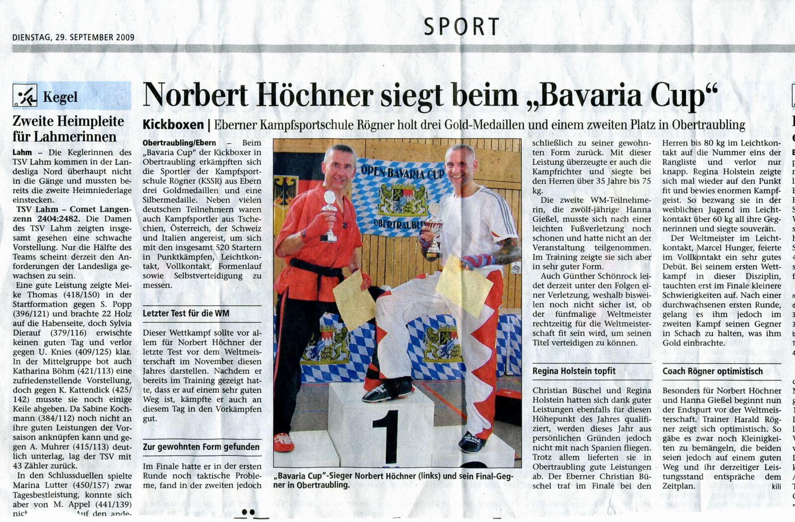 Norbert Höchner siegt beim Bavaria-Cup