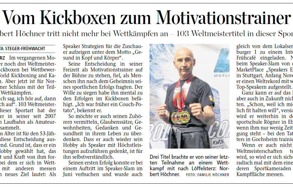 Vom Kickboxen zum Motivationstrainer