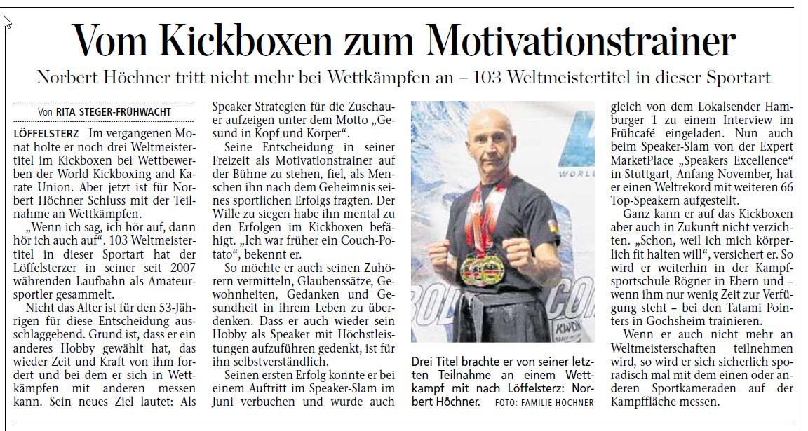 Vom Kickboxen zum Motivationstrainer